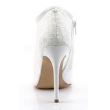 Bianco Tessuto 13 cm AMUSE-56 Scarpe Décolleté da Sera