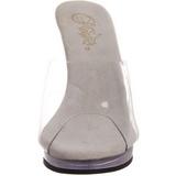 Bianco Trasparente 12 cm FLAIR-401 Scarpe Zoccoli da Uomo