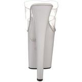 Bianco Trasparente 20 cm XTREME-802 Platform Ciabattina Tacchi Alti
