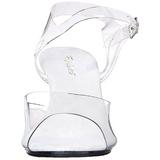 Bianco Trasparente 8 cm Pleaser BELLE-308 Tacchi Alti a Spillo