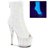 Bianco Vegano 18 cm ADORE-1031GM Stivali alla caviglia punta aperta