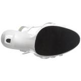 Bianco Vernice 12 cm FLAIR-420 Sandali Donna con Tacco