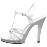 Bianco Vernice 12 cm FLAIR-420 scarpe tacco alto numeri grandi per uomo