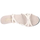 Bianco Vernice 12 cm FLAIR-436 Sandali Donna con Tacco