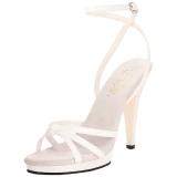 Bianco Vernice 12 cm FLAIR-436 scarpe tacco alto numeri grandi per uomo