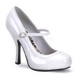 Bianco Vernice 12 cm rockabilly PRETTY-50 scarpe décolleté con tacchi bassi