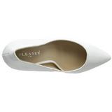 Bianco Vernice 13 cm AMUSE-20 Scarpe Décolleté Tacco Stiletto