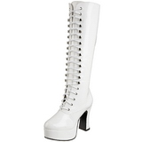 Bianco Vernice 13 cm ELECTRA-2020 Stivali Donna da Uomo