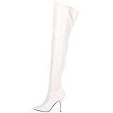 Bianco Vernice 13 cm SEDUCE-3000 stivali alti numeri grandi da uomo