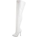 Bianco Vernice 13 cm SEDUCE-3010 stivali alti numeri grandi da uomo