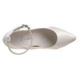 Bianco Vernice 13 cm SEDUCE-431 Tacchi altissimi da uomo