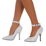 Bianco Vernice 13 cm SEDUCE-431 scarpe décolleté con tacchi bassi