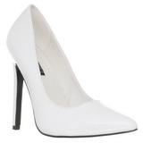 Bianco Vernice 13 cm SEXY-20 scarpe tacchi a spillo con punta