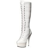 Bianco Vernice 15,5 cm DELIGHT-2023 Plateau Stivali Donna
