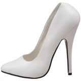 Bianco Vernice 15 cm DOMINA-420 tacchi a spillo più altissimo - tacchi appuntito