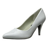 Bianco Vernice 7,5 cm PUMP-420 scarpe décolleté con tacchi bassi