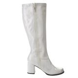 Bianco Vernice 8,5 cm GOGO-303 Stivali Donna da Uomo
