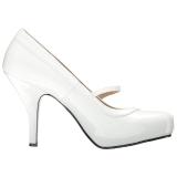 Bianco Verniciata 11,5 cm PINUP-01 grandi taglie scarpe décolleté