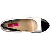 Bianco Verniciata 12,5 cm EVE-07 grandi taglie scarpe décolleté