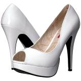 Bianco Verniciata 13,5 cm CHLOE-01 grandi taglie scarpe décolleté
