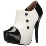 Bianco Verniciata 13,5 cm CHLOE-11 grandi taglie scarpe décolleté