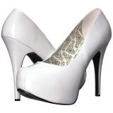 Bianco Verniciata 14,5 cm Burlesque TEEZE-06W scarpe décolleté per piedi larghi da uomo