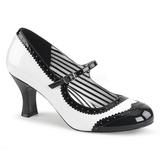 Bianco Verniciata 7,5 cm JENNA-06 grandi taglie scarpe décolleté