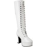 Bianco Verniciato 10,5 cm EXOTICA-2020 Stivali Stringati Donna
