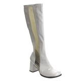 Bianco Verniciato 7,5 cm Funtasma GOGO-303 Stivali Donna
