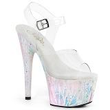Bianco trasparente 18 cm ADORE-708SPLA-2 scarpe exotic pole