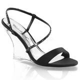 Black 10,5 cm LOVELY-417 Women Wedge Sandals