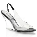 Black 10,5 cm LOVELY-450 Women Wedge Sandals