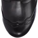 Black 10,5 cm TESLA-102 Womens Ankle High Steampunk Boots