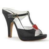 Black 10 cm SIREN-09 Women Mules Shoes