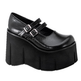 Black 11,5 cm KERA-08 lolita shoes gothic wedge platform shoes