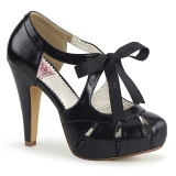 Black 11,5 cm retro vintage BETTIE-19 Womens Shoes with High Heels