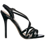 Black 13 cm Pleaser AMUSE-13 high heeled sandals