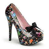 Black 14,5 cm TEEZE-12-4 Womens Shoes with High Heels