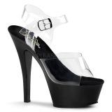 Black 18 cm Pleaser KISS-208 Platform High Heels Shoes