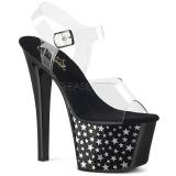 Black 18 cm Pleaser SKY-308CP-1 Pole dancing sandals
