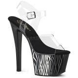 Black 18 cm Pleaser SKY-308CP-2 Pole dancing sandals