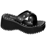 Black 6,5 cm FLIP-05 Goth Platform Sandals Womens