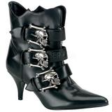 Black 7 cm DEMONIA FURY-06 Womens Ankle High Goth Boots