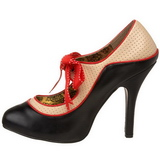 Black Beige 11,5 cm rockabilly TEMPT-27 Womens Shoes with High Heels