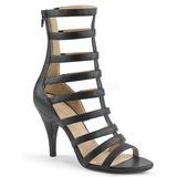 Black Leatherette 10 cm DREAM-438 big size ankle boots womens