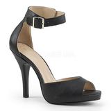 Black Leatherette 12,5 cm EVE-02 big size sandals womens