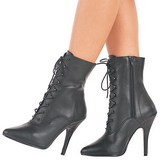 Black Leatherette 13 cm SEDUCE-1020 Womens Ankle Boots for Men