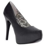 Black Leatherette 14,5 cm Burlesque TEEZE-06W mens pumps for wide feets