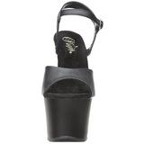 Black Leatherette 18 cm Pleaser SKY-309 High Heels Platform