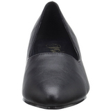 Black Leatherette 5 cm FAB-420W High Heel Pumps for Men